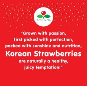 korean strawberry winning quote